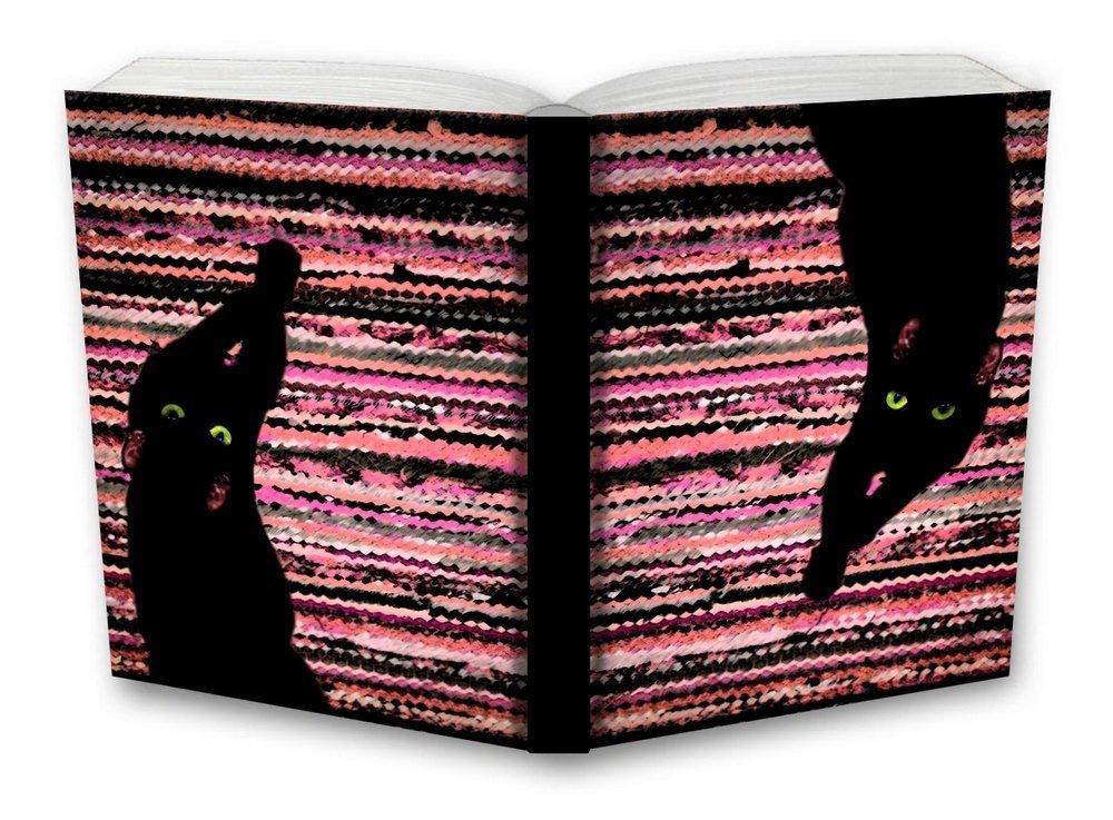 Tečkovaný zápisník, kočka na koberci, 195 x 135 mm