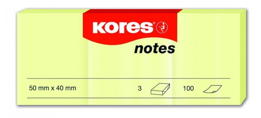 Samolepicí bločky žluté 3 ks 50x40 / 100 lístků