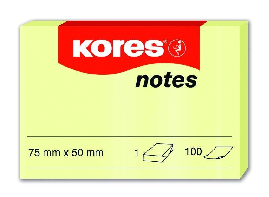 Samolepicí bločky žluté 75x50 / 100 lístků