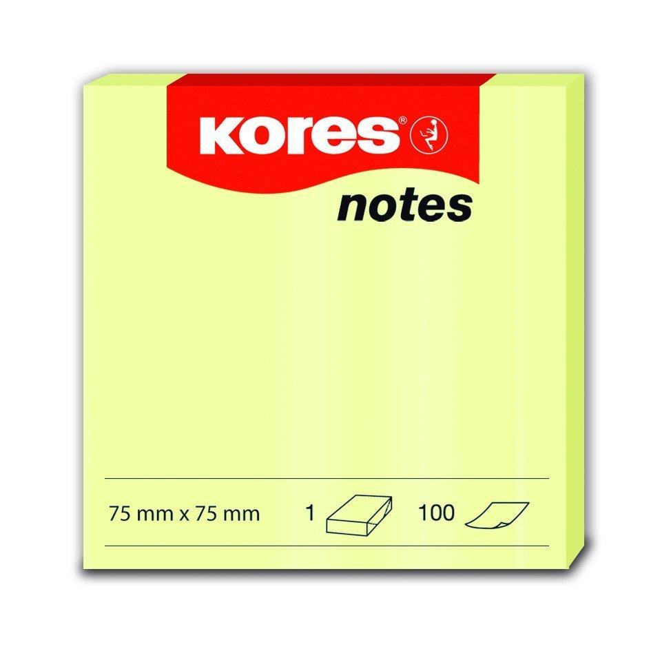 Samolepicí bločky žluté 75x75 / 100 lístků