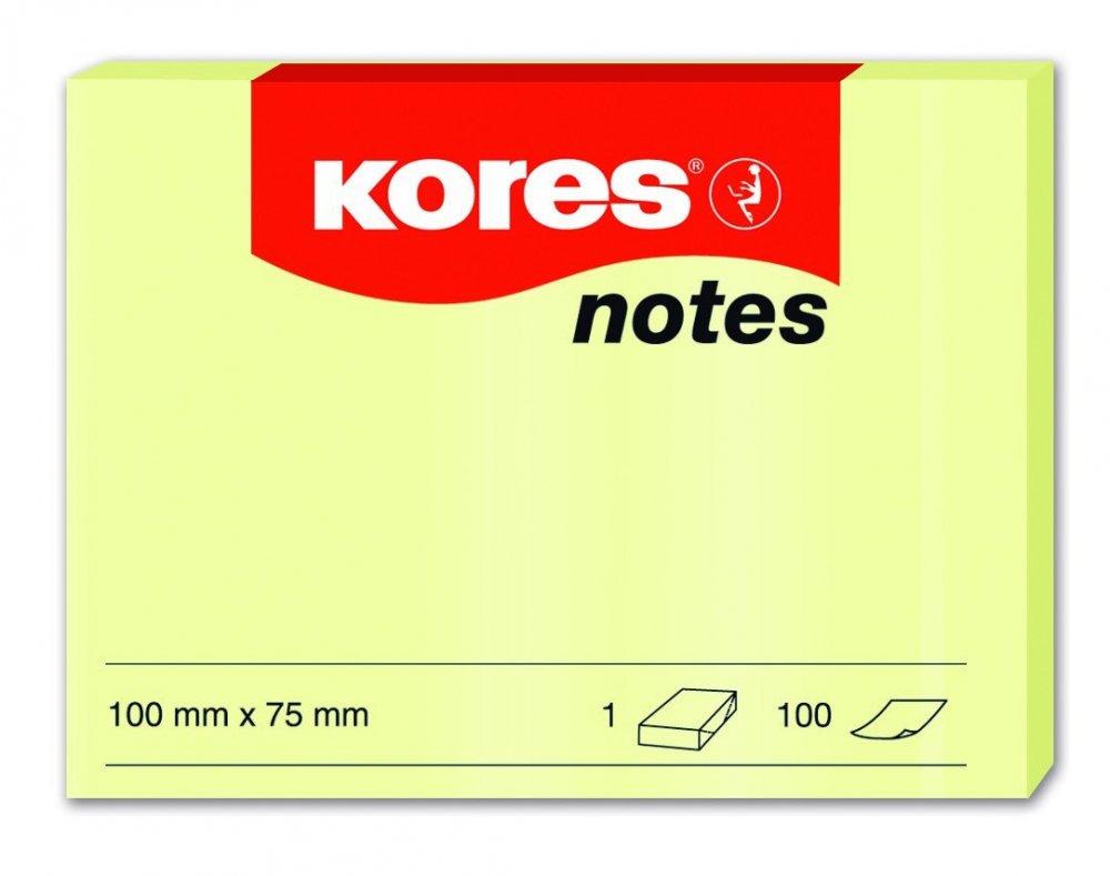 Samolepicí bločky žluté 100x75 / 100 lístků