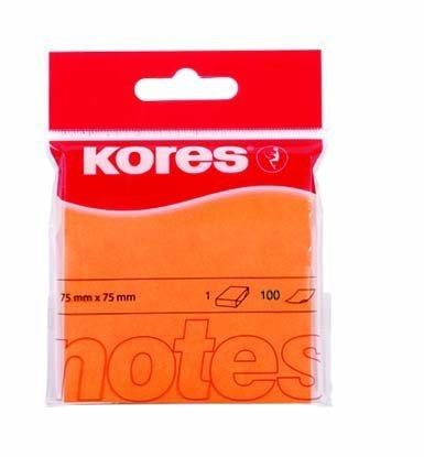 Samolepicí bločky 75x75 / 100 lístků oranžová