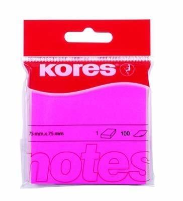 Samolepicí bločky 75x75 / 100 lístků růžová