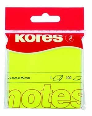 Samolepicí bločky 75x75 / 100 lístků žlutá