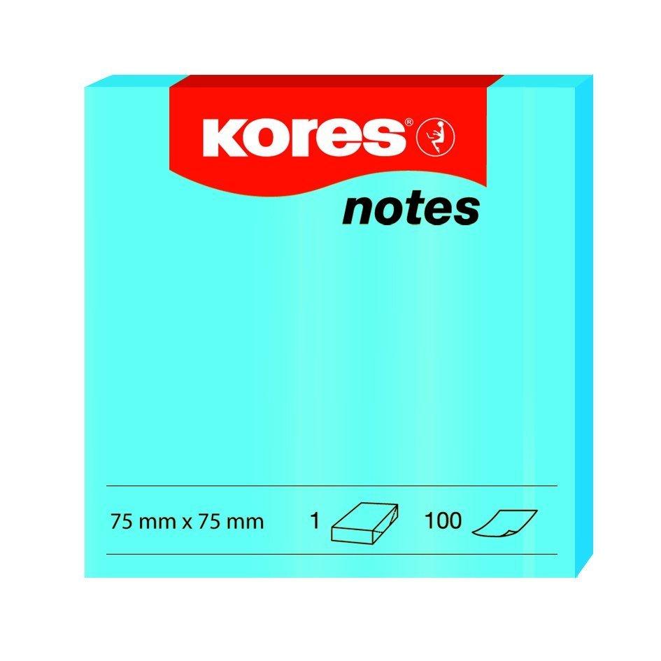Samolepicí bločky 75x75 / 100 lístků modrá
