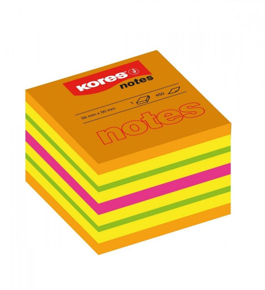 Neonové bločky CUBO Summer 400 lístků 50x50mm, mix barev