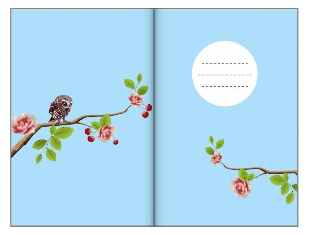 Tečkovaný zápisník, soví houkání, 195 x 135 mm