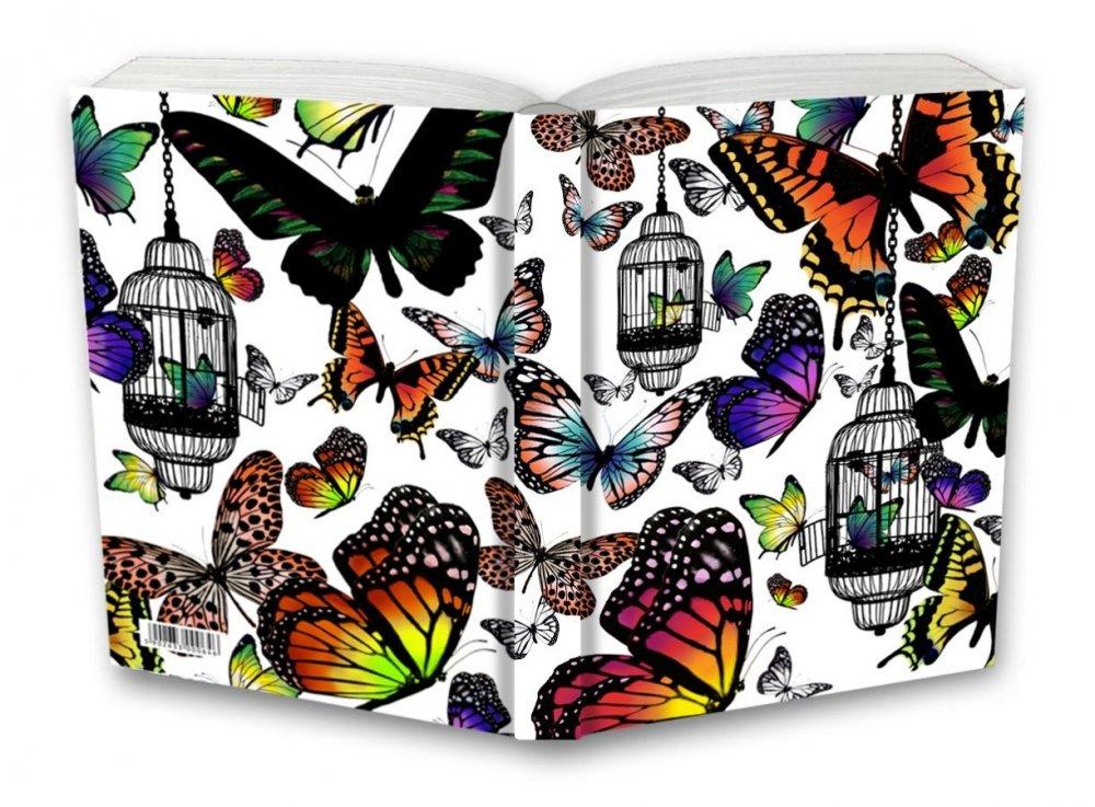Tečkovaný zápisník, motýli, 195 x 135 mm