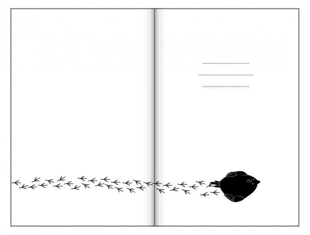 Tečkovaný zápisník, kuřecí chůze, 195 x 135 mm