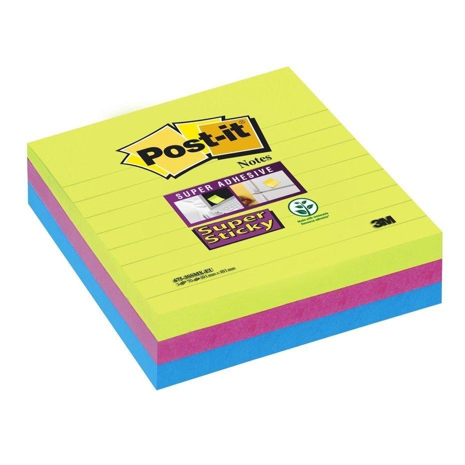 Bloček samolepící Post-it 100x100 3x70l duha