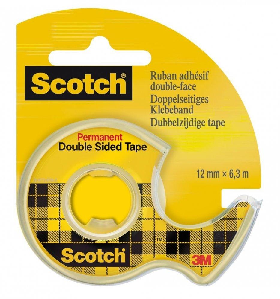 3M Scotch - Oboustranně lepicí páska v zásobníku, 12 mm × 6,3 m, 1 role