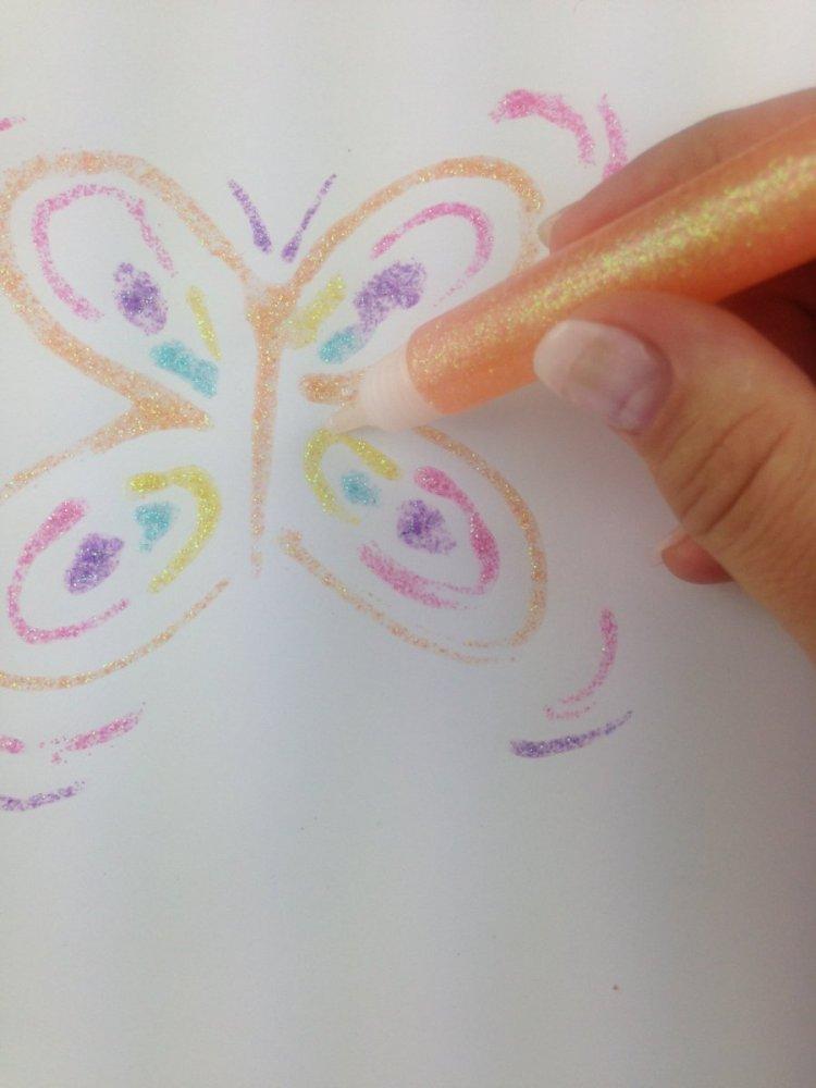 Dekorační lepidlo Glitter Glue se třpytkami