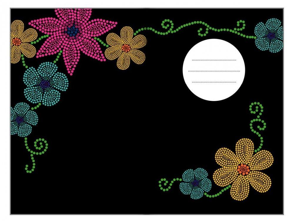 Tečkovaný zápisník, mozaikový zajíček, 195 x 135 mm