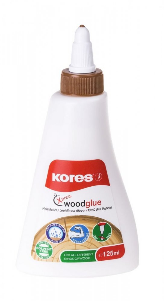 Lepidlo na dřevo Kores Wood Glue, 125 ml