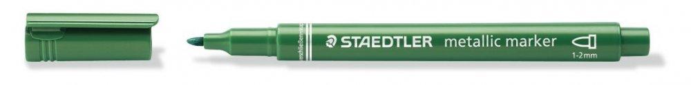 Metalický popisovač, zelený
