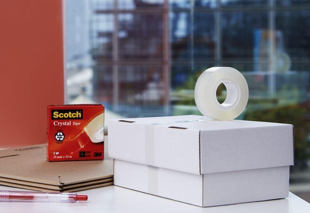 3M Scotch Krystalicky čirá lepicí páska, 19 x 33 m, náplň, 1 role