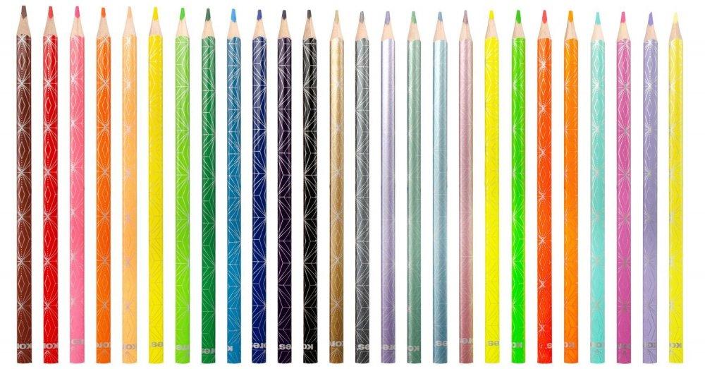 Kolores STYLE trojhranné pastelky, 3 mm / 26 barev