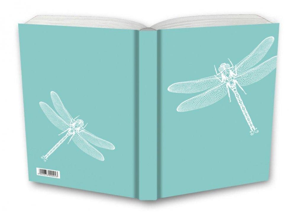 Tečkovaný zápisník, vážky, 195 x 135 mm