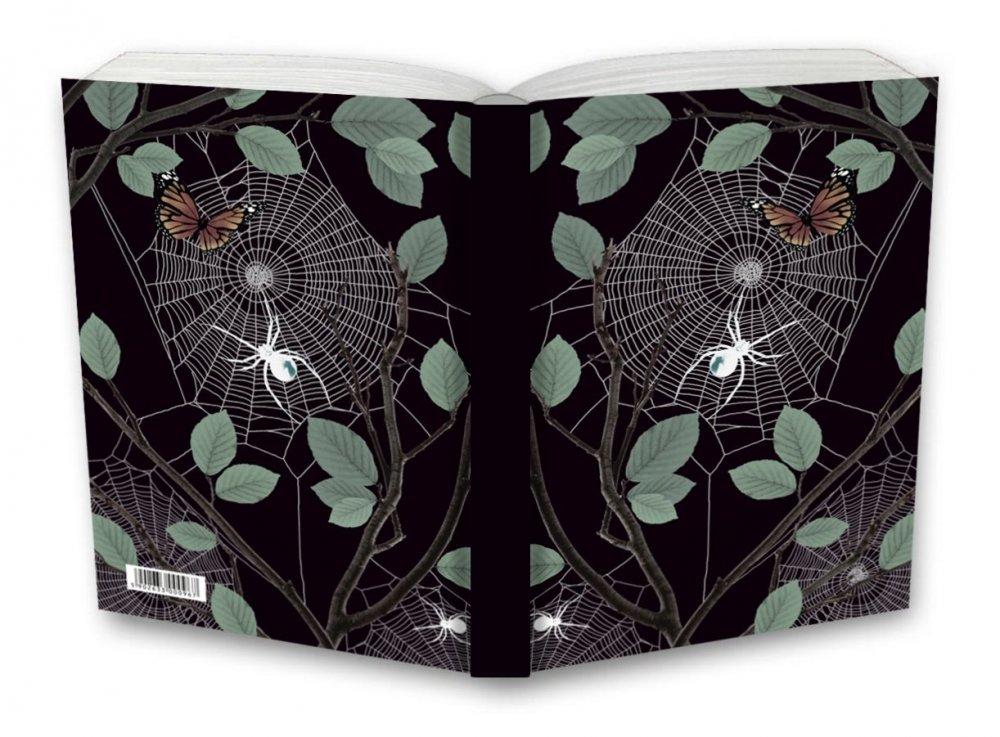 Tečkovaný zápisník, pavučina, 195 x 135 mm