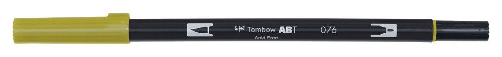 Tombow Oboustranný štětcový fix ABT Dual Brush Pen, green ochre