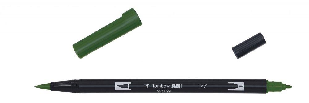 Tombow Oboustranný štětcový fix ABT Dual Brush Pen, dark jade