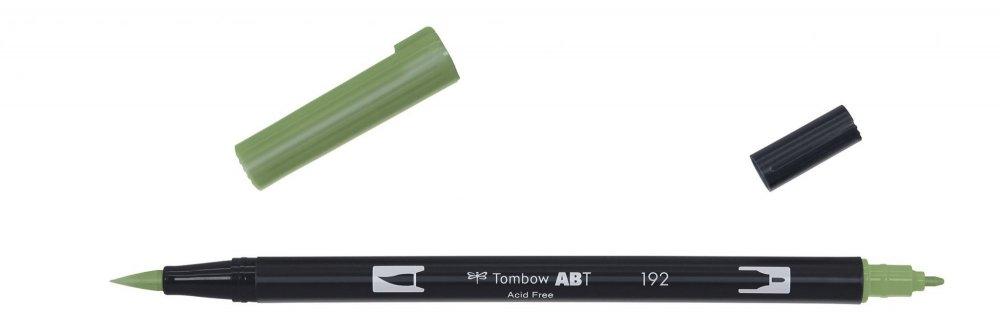 Tombow Oboustranný štětcový fix ABT Dual Brush Pen, asparagus