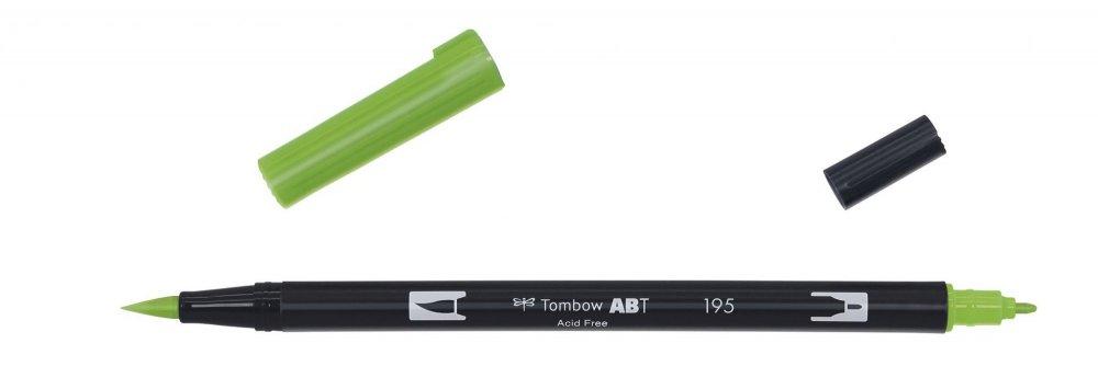 Oboustranný fix se dvěma hroty DUAL BRUSH PEN, light green