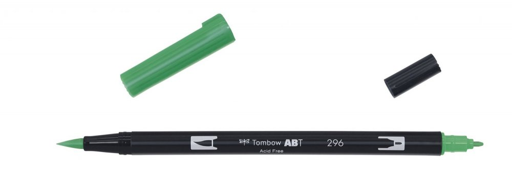 Oboustranný fix se dvěma hroty DUAL BRUSH PEN, green