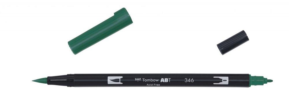 Tombow Oboustranný štětcový fix ABT Dual Brush Pen, sea green