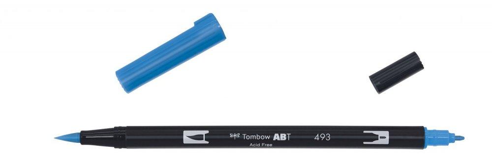 Oboustranný fix se dvěma hroty DUAL BRUSH PEN, reflex blue