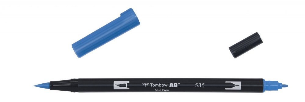 Oboustranný fix se dvěma hroty DUAL BRUSH PEN, cobalt blue