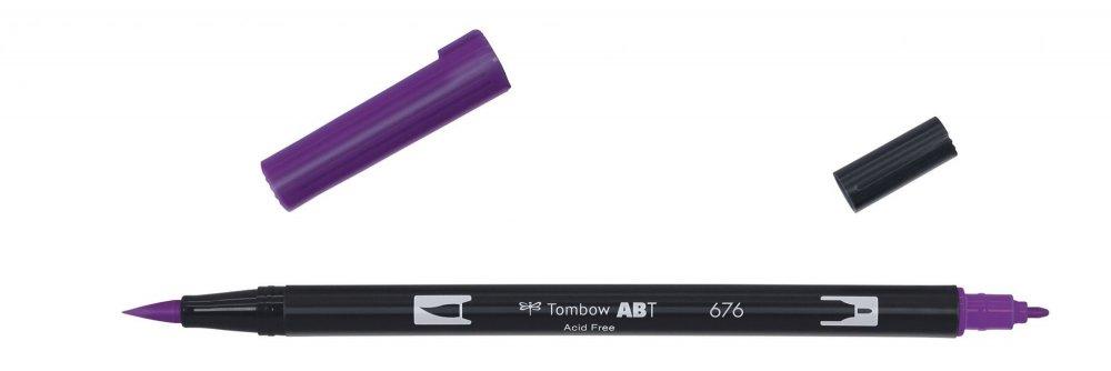 Tombow Oboustranný štětcový fix ABT Dual Brush Pen, royal purple