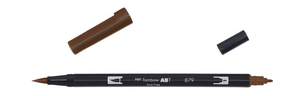 Oboustranný fix se dvěma hroty DUAL BRUSH PEN, brown