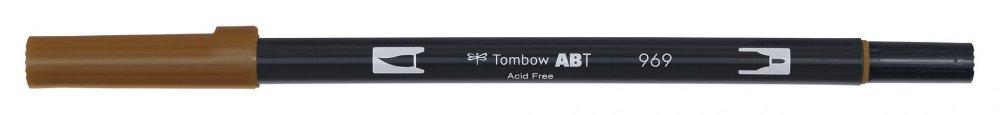Tombow Oboustranný štětcový fix ABT Dual Brush Pen, chocolate