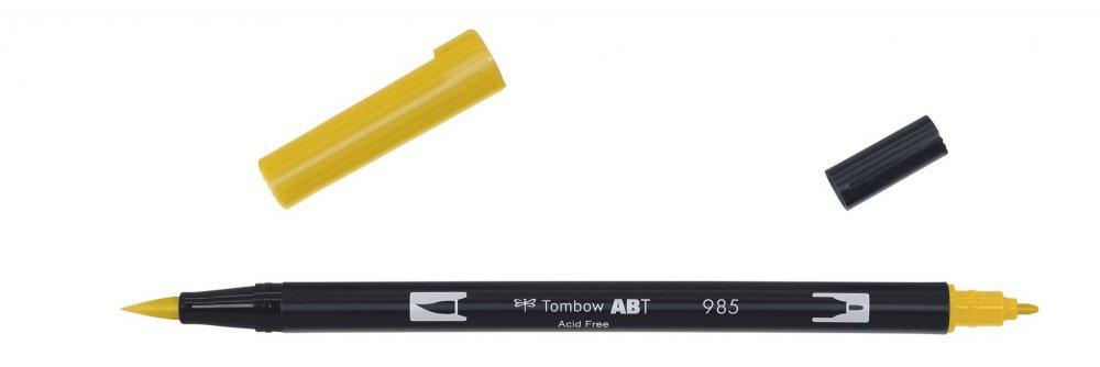 Oboustranný fix se dvěma hroty DUAL BRUSH PEN, chrome yellow