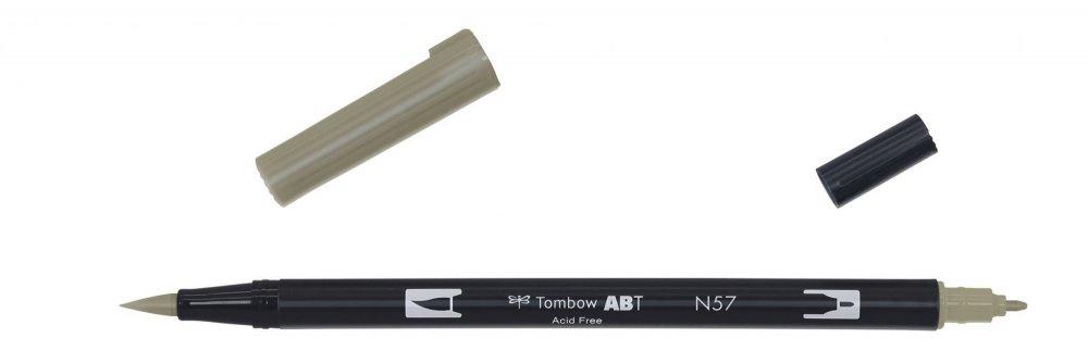 Tombow Oboustranný štětcový fix ABT Dual Brush Pen, warm grey5