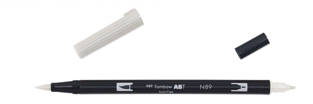 Tombow Oboustranný štětcový fix ABT Dual Brush Pen, warm grey1