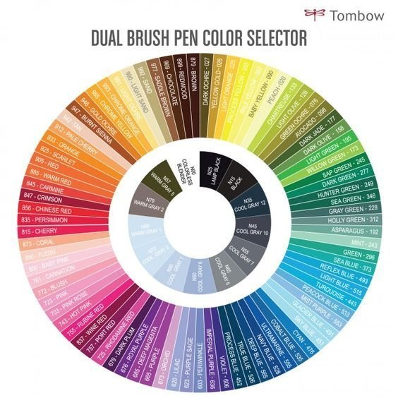 Sada oboustranných fixů ABT Dual Brush Pen – Secondary colours, 18 ks