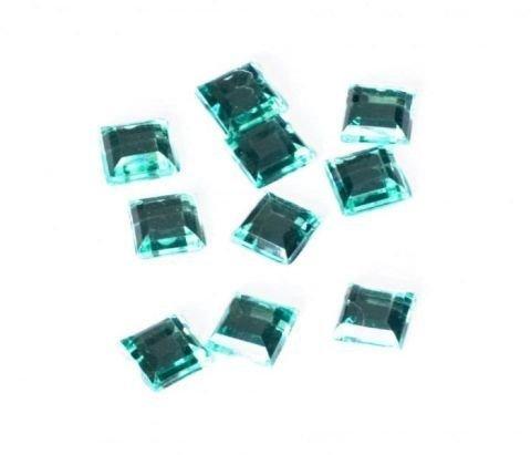 Dekorační diamanty – čtverečky – zelená 10ks