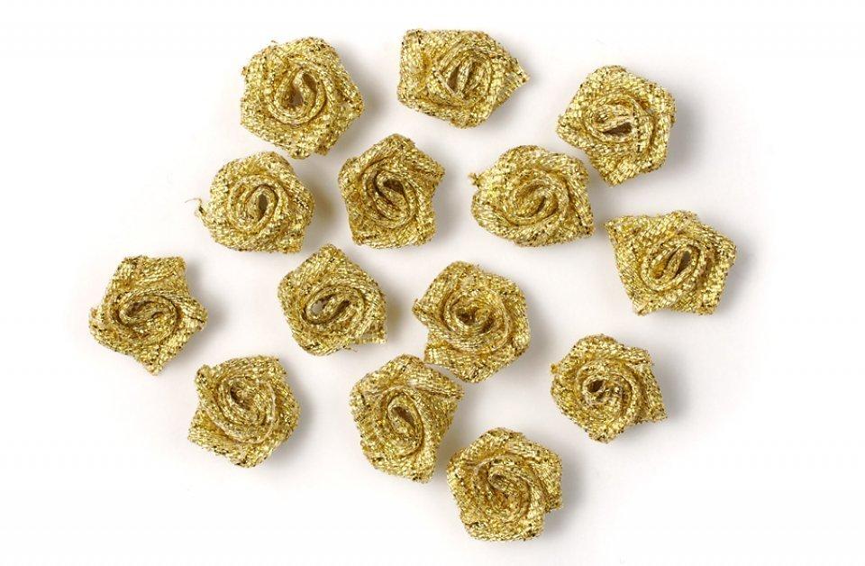 Dekorační růže zlaté 20ks