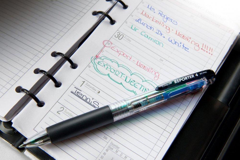 Čtyřbarevné kuličkové pero R4 růžové