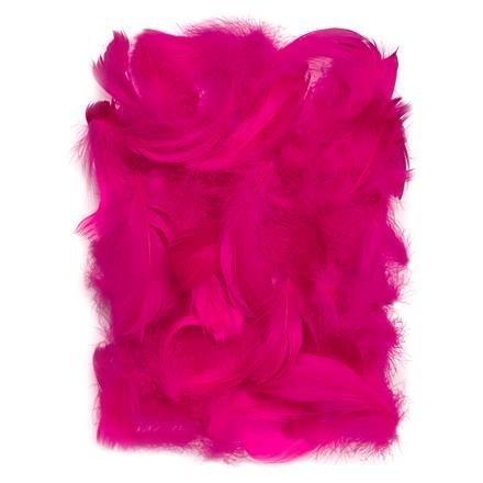 Peří 5-12 cm, 10 g, tmavě růžová