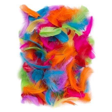 Peří 5-12 cm, 10 g, pestré barvy