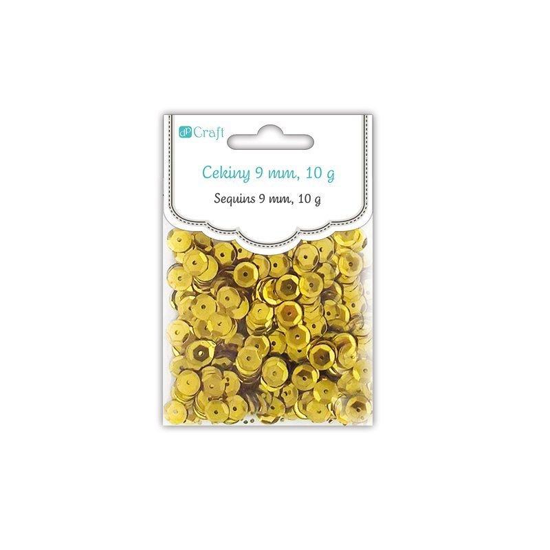 Flitry kulaté 9mm, zlaté,10g