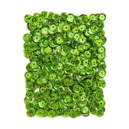 Flitry holografické 9 mm, 15 g - světle zelené