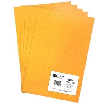 Filc polyesterový – tmavě žlutý A4