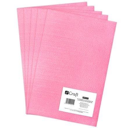 Filc polyesterový – neonově růžový A4