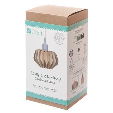 Lampa z kartonu DIY, bílá objímka