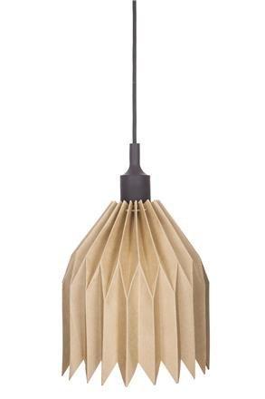 Lampa z kartonu DIY, černá objímka
