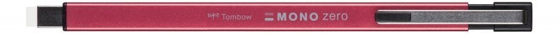 Tombow Gumovací tužka Mono Zero METAL, 2,5 mm x 5 mm, červená